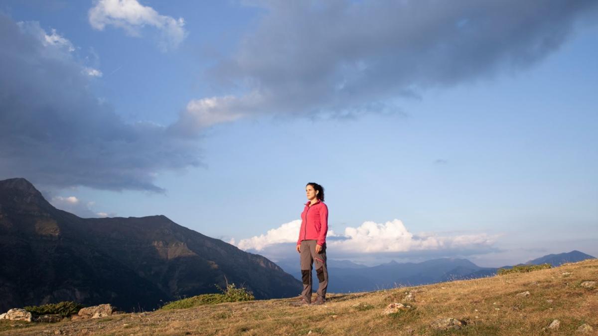 Judith Martín Carrera en el valle de Benasque.