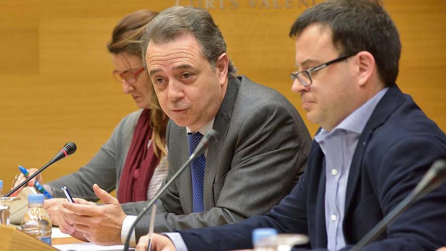 José María Vidal durante su intervención en la comisión de RTVV en las Corts