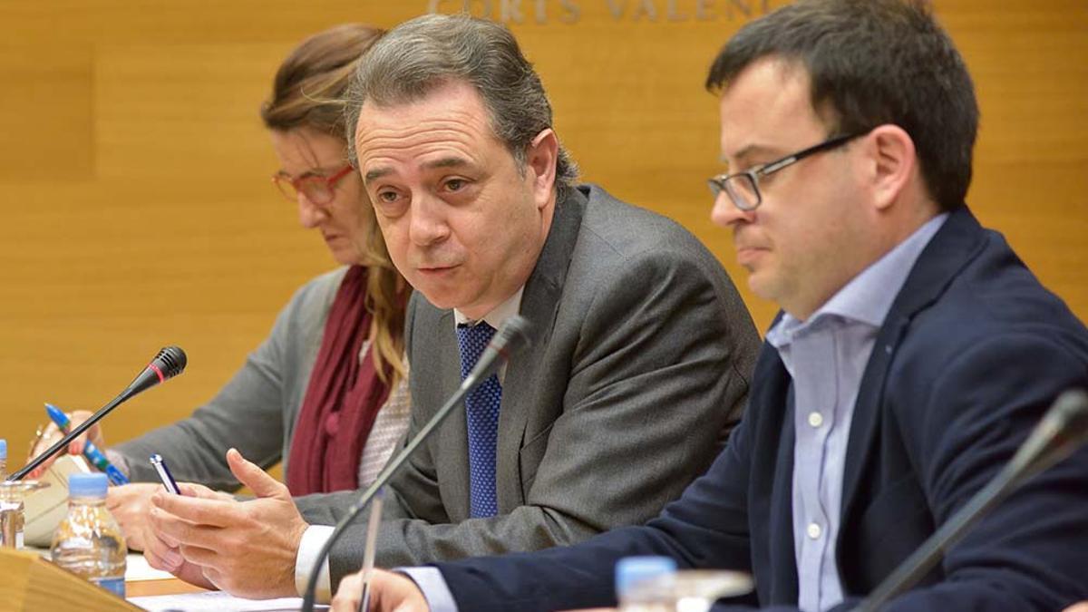 José María Vidal durante una intervención en la comisión de RTVV en las Corts Valencianes.