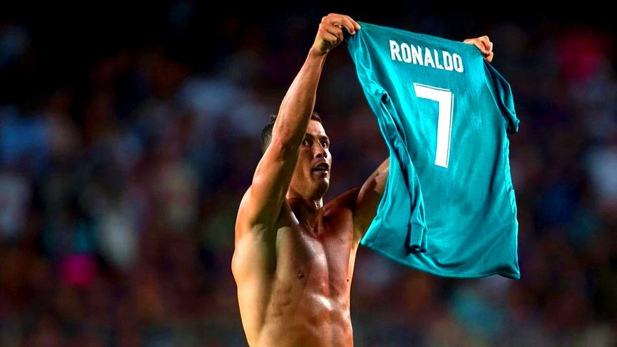 Cristiano Ronaldo en la Supercopa de España