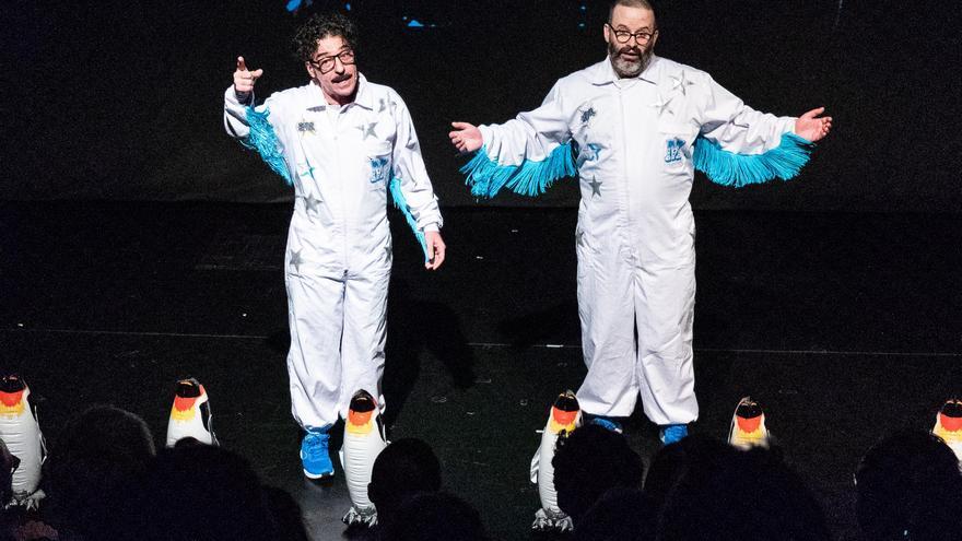 Edu Galán (d) y Darío Adanti (i) en su último show, Mongolia sobre hielo