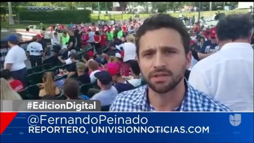 El periodista Fernando Peinado durante la campaña electoral norteamericana