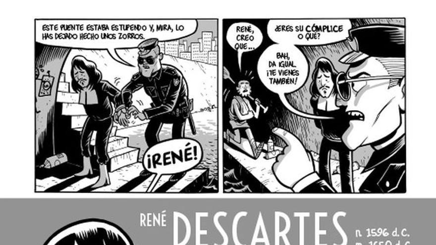 René Descartes en 'Filosofía en viñetas'