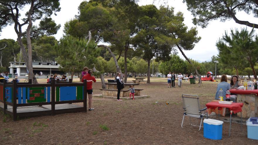 Imagen de la parte de acceso público del parque del Pinar del Grau de Castelló.