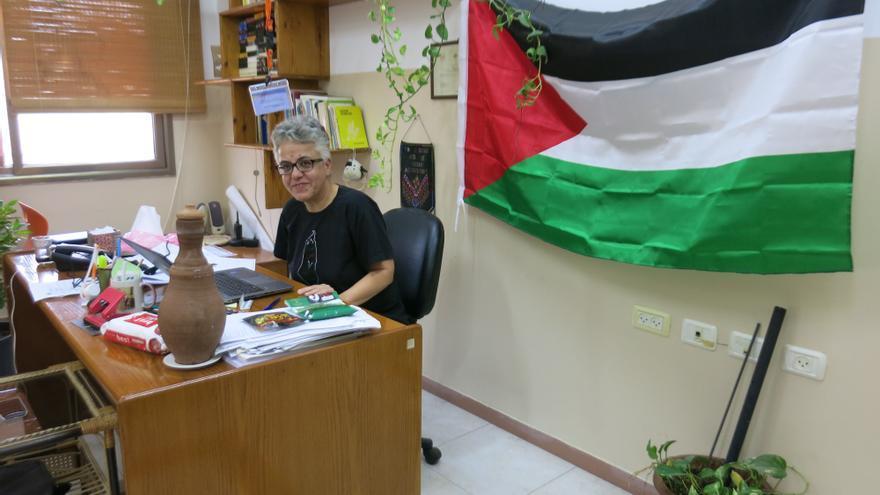 Majeda al Saqqa, directora de la Asociación para la Cultura y el Libre Pensamiento en Gaza.