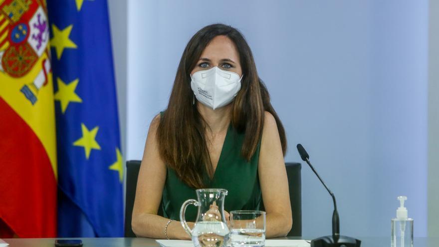 La ministra de Derechos Sociales y Agenda 2030, Ione Belarra, en Moncloa