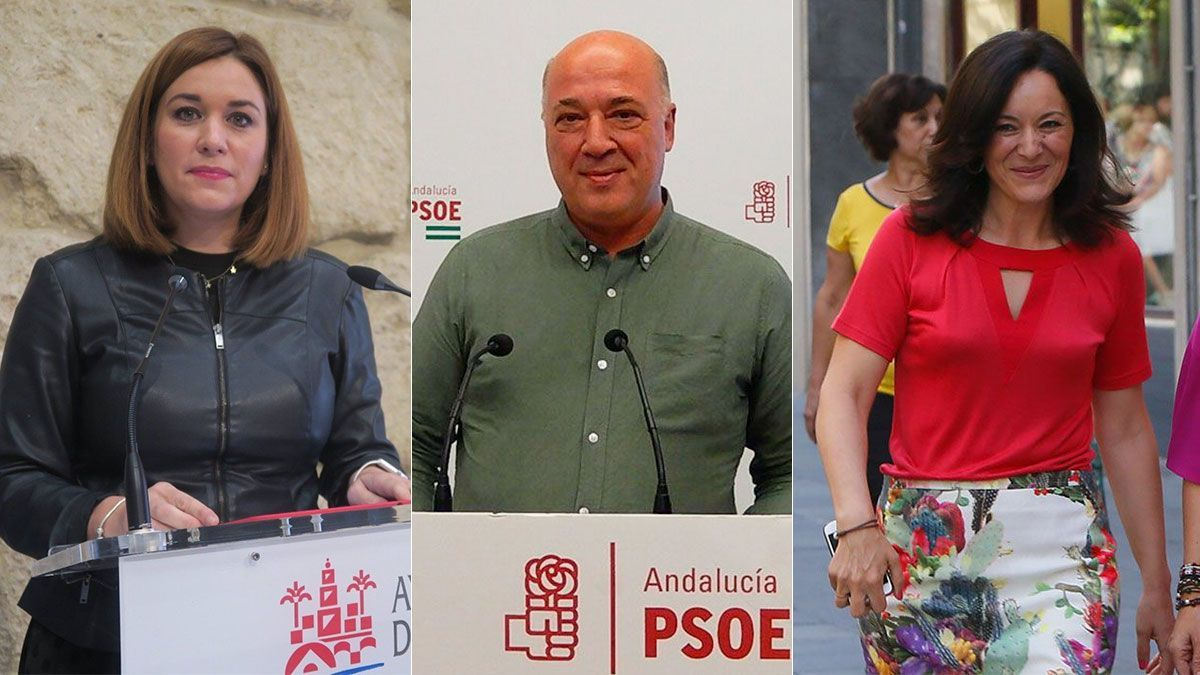 Carmen Campos, Antonio Ruiz y Rafi Crespín