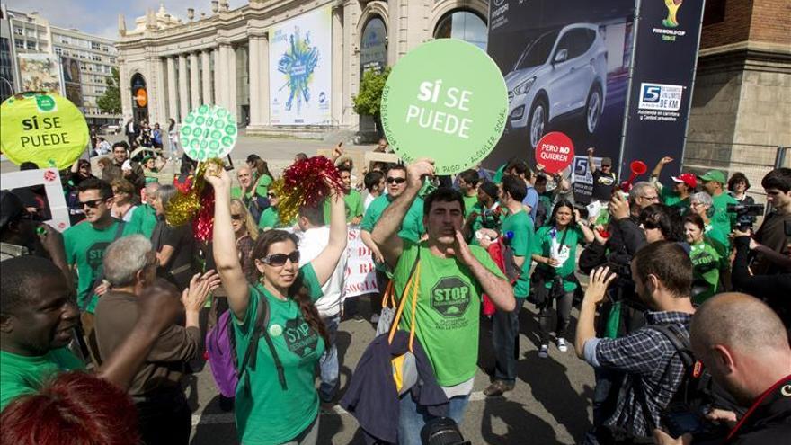 Una movilización ciudadana trata de impedir 12 desahucios en Barcelona