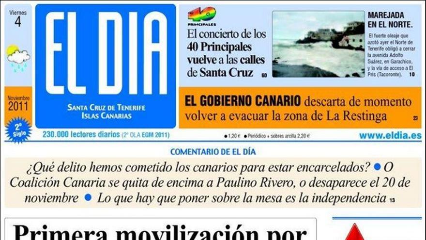 De las portadas del día (04/11/2011) #3