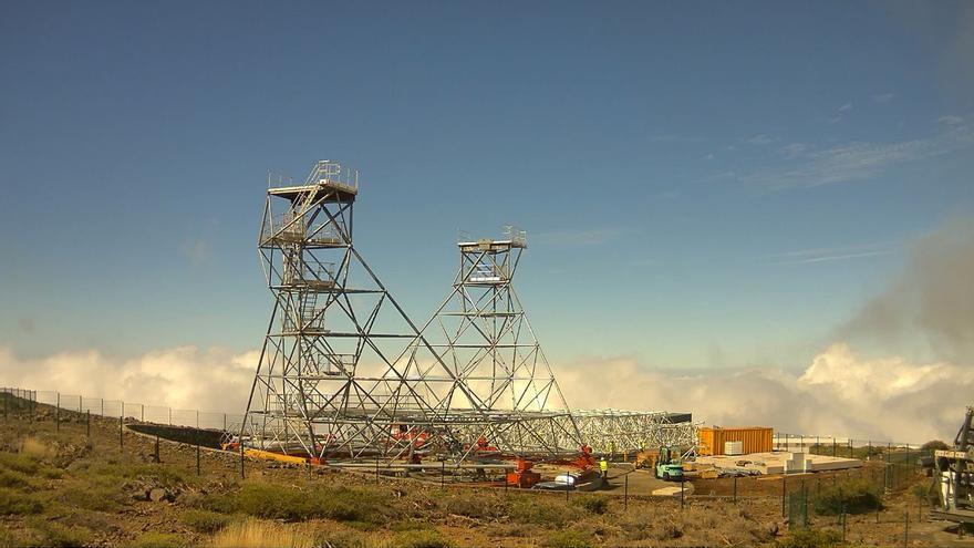 Estructura del prototipo de gran tamaño de la Red de Telescopios Cherenkov en El Roque de Los Muchachos. Foto :Cherenkov Telescope Array.