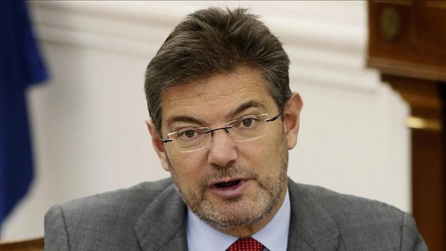 El ministro de Justicia, Rafael Catalá, en una comparecencia pública