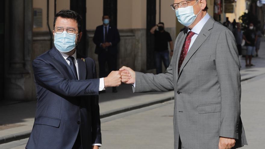 El president Ximo Puig recibe a Pere Aragonés