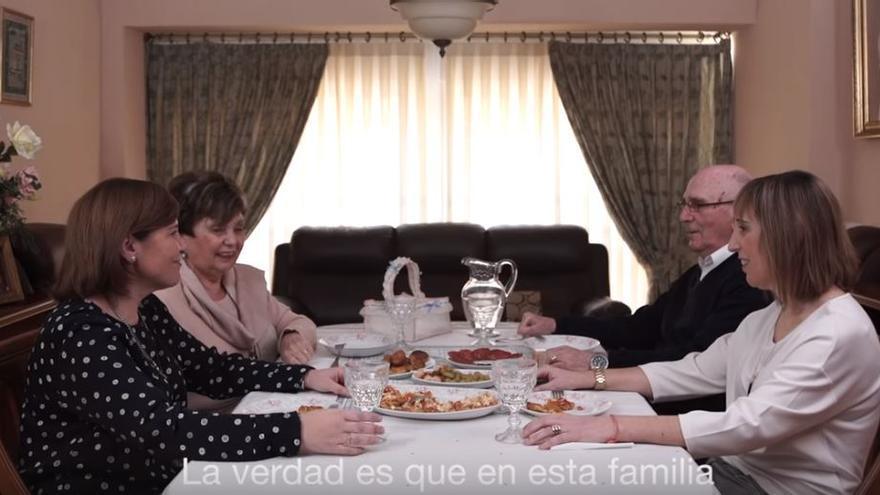 Un fotograma del audiovisual difundido por el Partido Popular