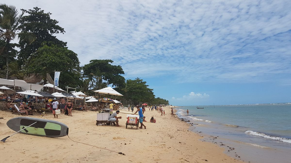 Playa de Porto Seguro en Brasil