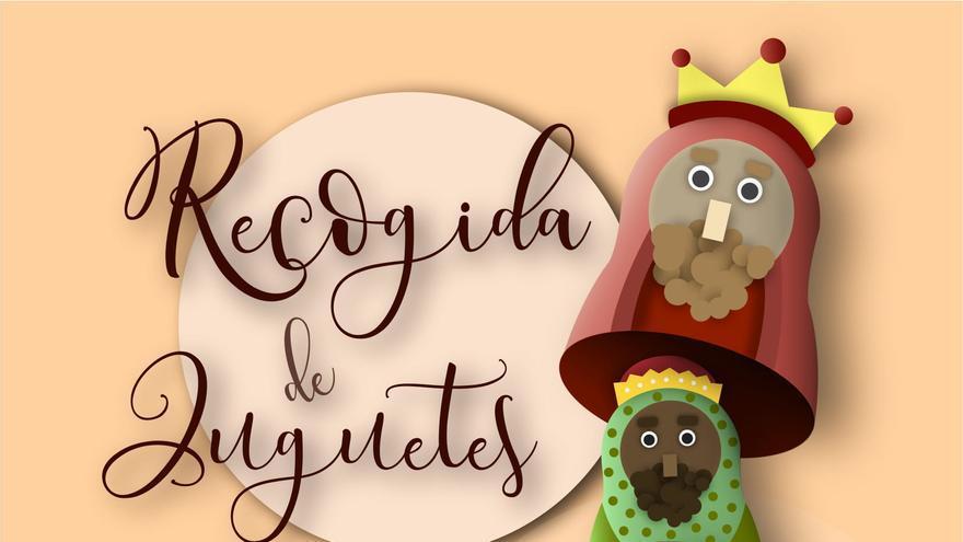 Cartel de la campaña navideña de recogida de juguetes de Santa Cruz de La Palma. Autor: Héctor Expósito Rodríguez, alumno de la Escuela de Arte Manolo Blahnik.