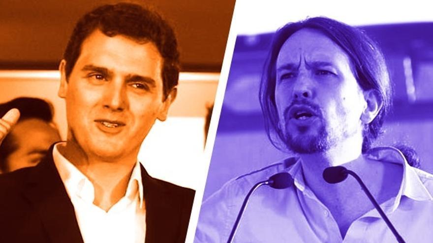 Pablo Iglesias y Albert Rivera protagonizarán hoy un 'cara a cara' ante universitarios