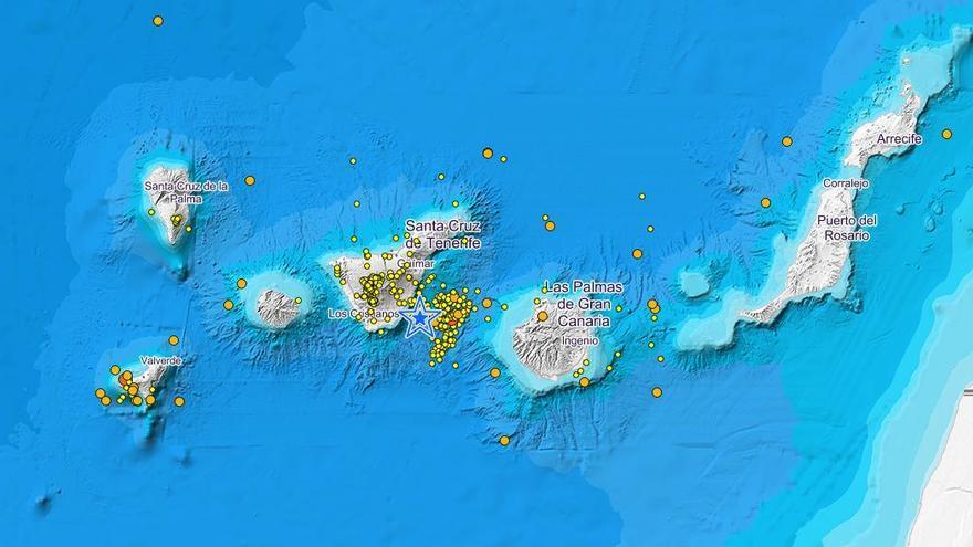 Terremotos registrados en Canarias por el IGN de febrero a abril de 2019