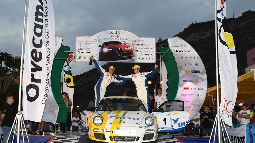 Los vencedores del 43 Rallye La Palma Isla Bonita.