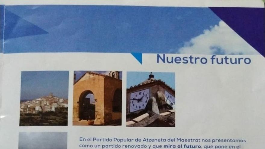 Imagen de la propaganda electoral del PP de Atzeneta del Maestrat