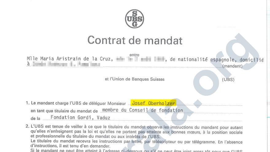 Nombramiento como administrador de la Fundación Gordi de Josef Oberholzer, banquero de UBS procesado por blanqueo.