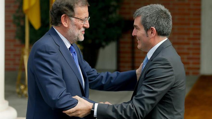 Resultado de imagen de Rajoy y fernando clavijo
