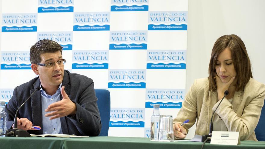 Jorge Rodríguez, presidente de la Diputación, y Diana Morant