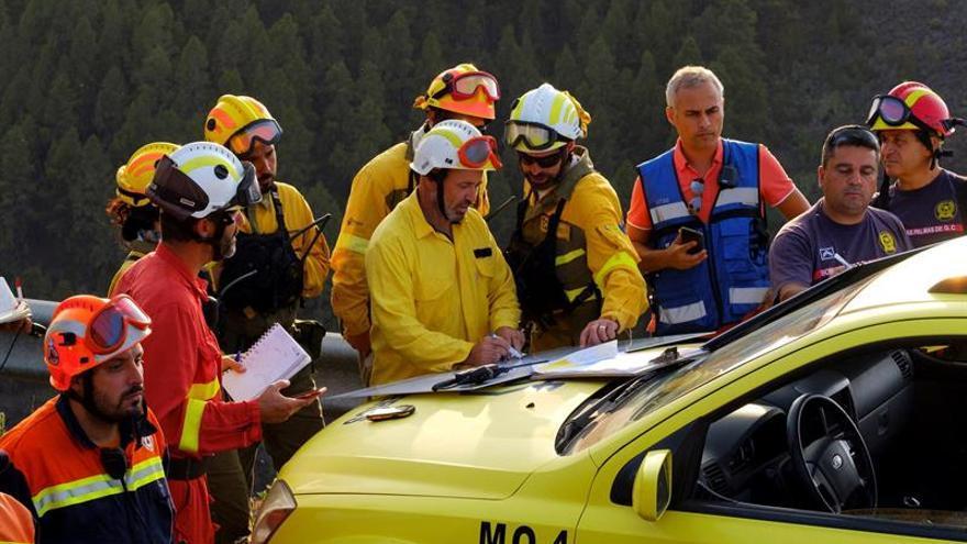 Los equipos que se desplegaron a Gran Canaria para luchar contra el incendio de Valleseco.