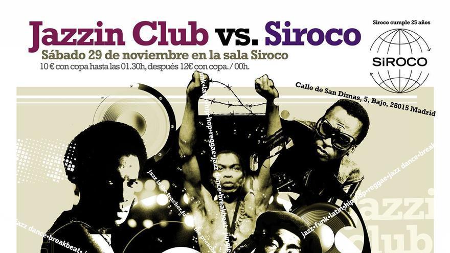 Cartel de la sesión de Jazzin' Club en Siroco