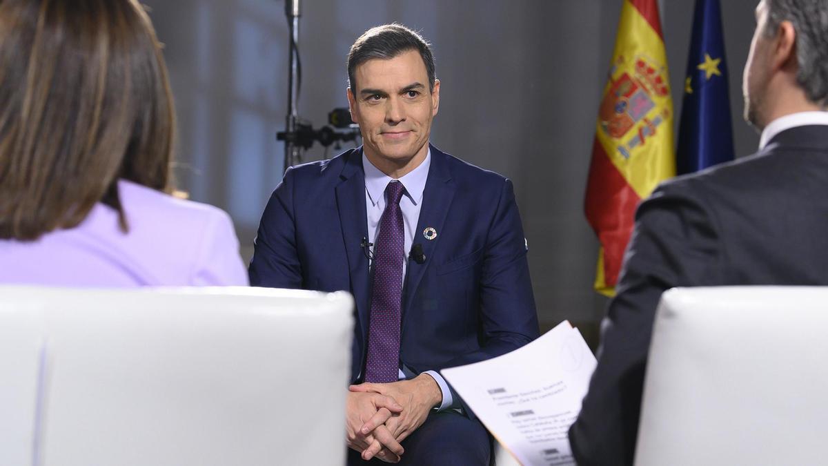 Pedro Sánchez, entrevistado en TVE