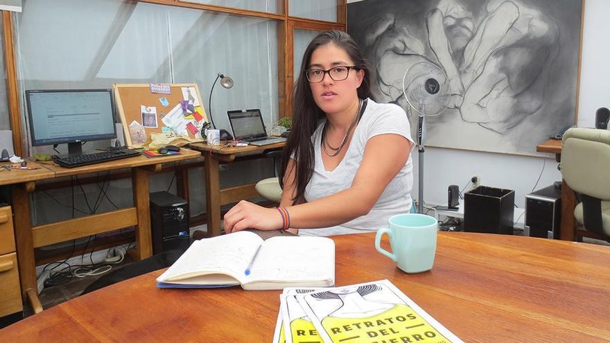 Cayetana Salao, coordinadora del libro 'Retratos del encierro'.
