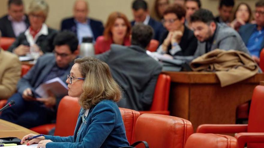 Nadia Calviño en la Diputación Permanente.
