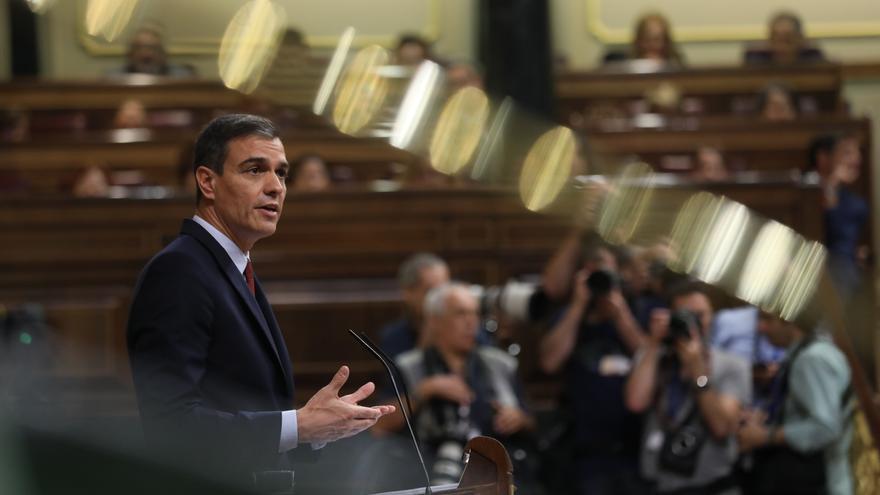 Discurso del candidato a presidente del Gobierno, Pedro Sánchez, durante el debate de investidura. Foto: Marta Jari