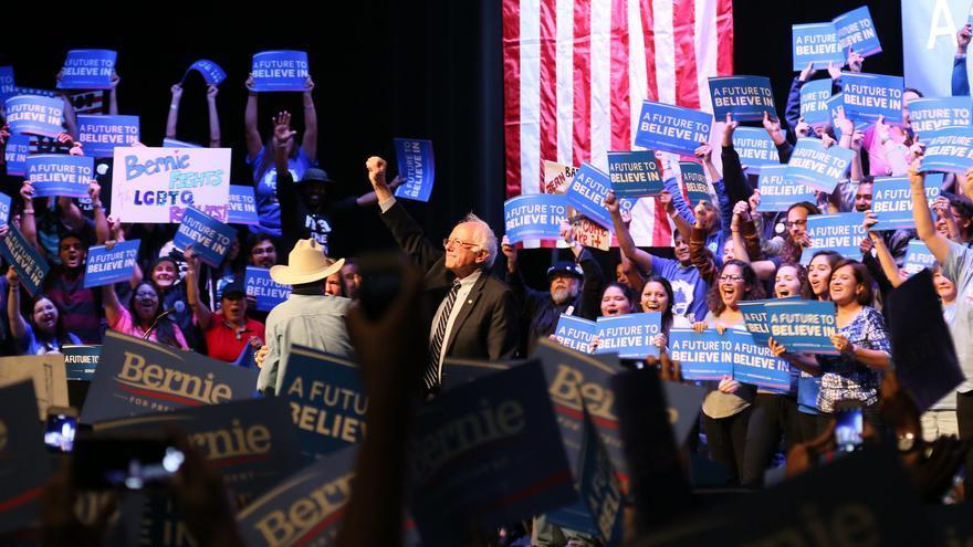 Bernie Sanders durante la carrera presidencial de 2016.