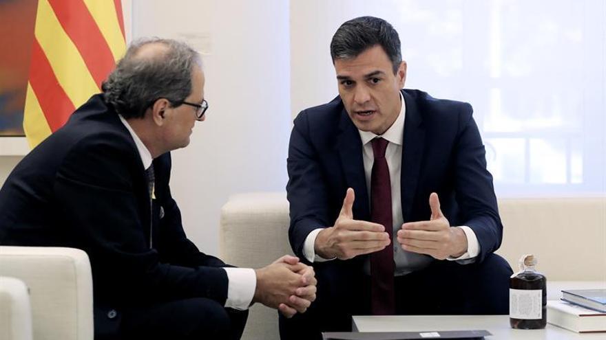 Sánchez ve encauzada relación con Torra aunque rechaza la autodeterminación