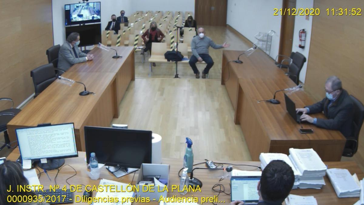 El apoderado de la cuenta del PP de Castellón durante su declaración ante el juez Jacobo Pin.