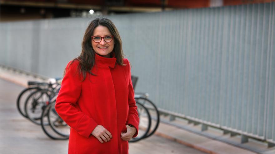 Mónica Oltra en la ciudad administrativa 9 d'Octubre, donde está la Conselleria de Igualdad y Políticas Inclusivas.