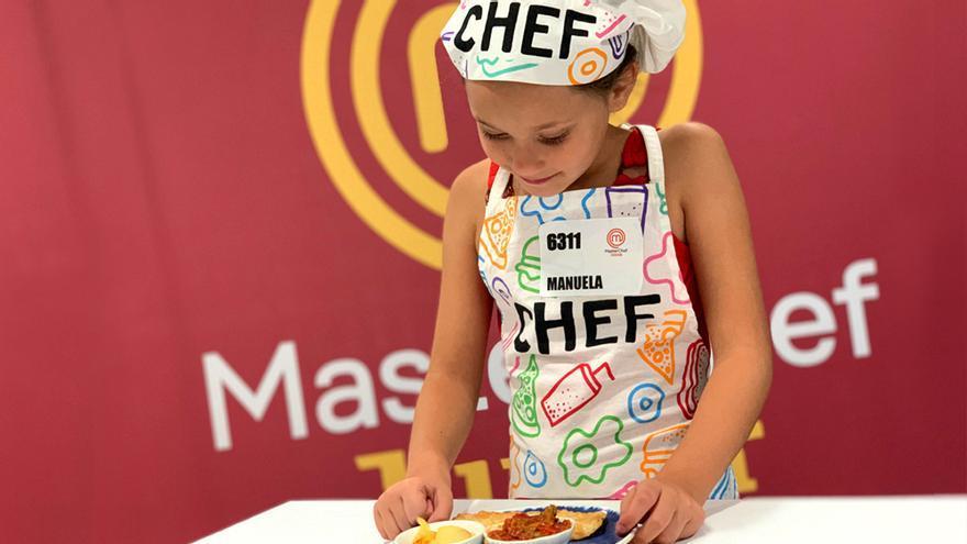 Manuela en el casting de 'MasterChef Junior 7'