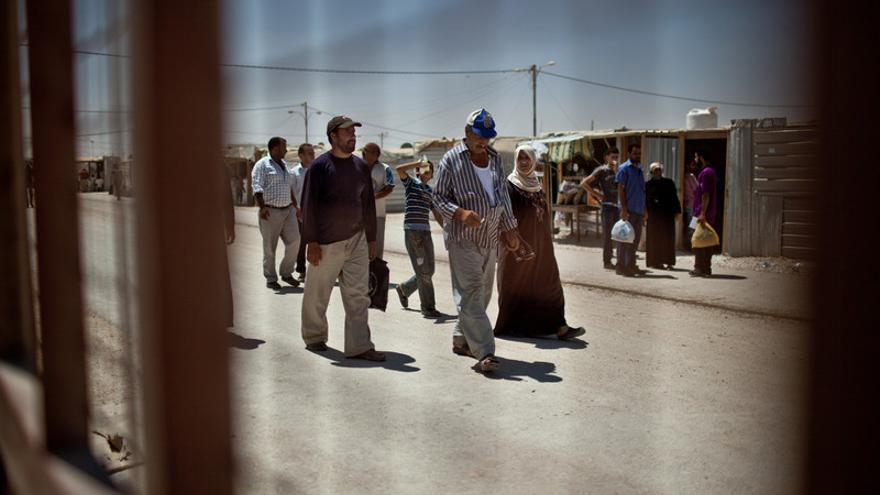 El campo de Za'atari en Jordania alberga a 125.000 refugiados de los casi dos millones de personas que han huido de la guerra de Siria, en su mayoría mujeres y niños. Jordania/ Pablo Tosco
