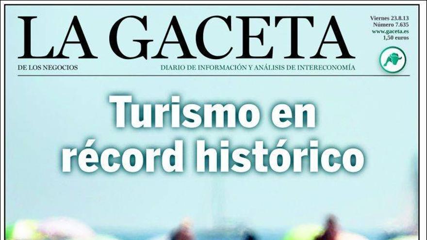 Portada del diario La Gaceta del 23 de agosto.