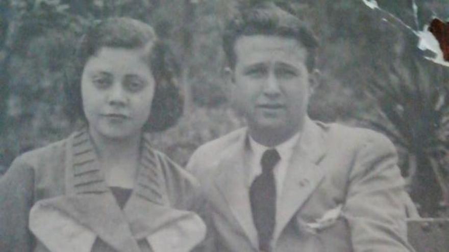 Magdalena Liñán con su marido, Bibiano Ramírez