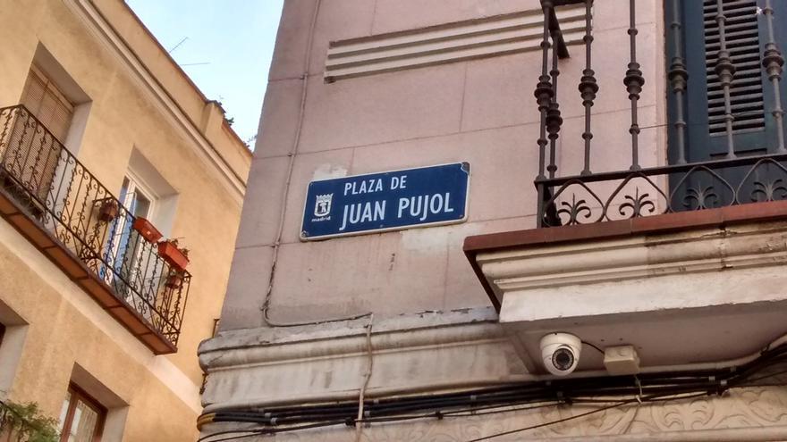 Cartel de la plaza de Juan Pujol | SOMOS MALASAÑA