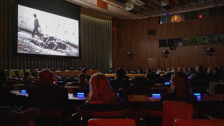 'El silencio de otros', en la sede de la ONU en Nueva York.
