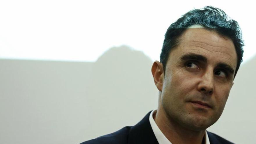 Hervé Falciani, durante el acto con el Partido X