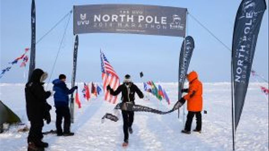 The North Pole Marathon 2014. Mike Wardian vencedor del North Pole Marathon 2014. Foto: Mike King