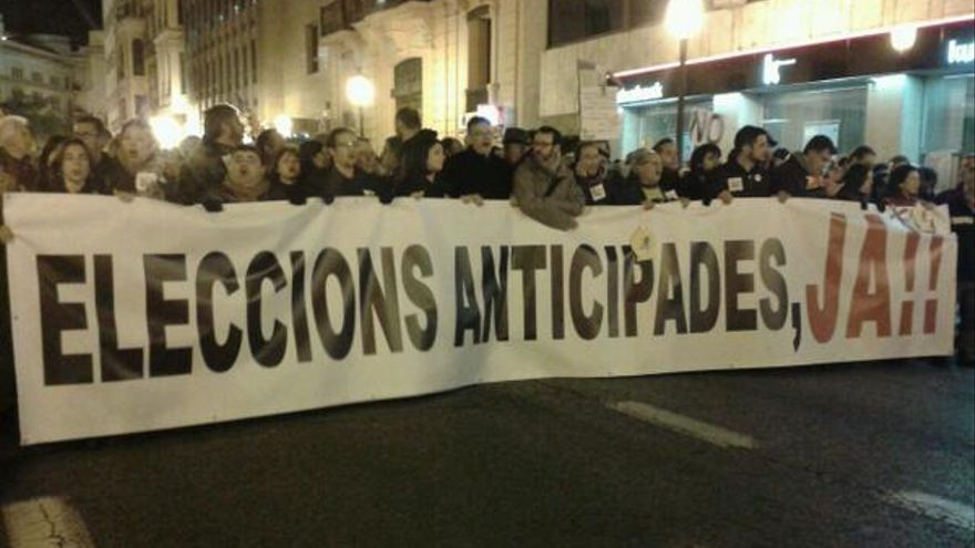 manifestación cierre RTVV