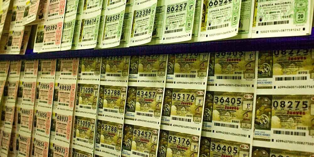 Décimos de lotería de navidad