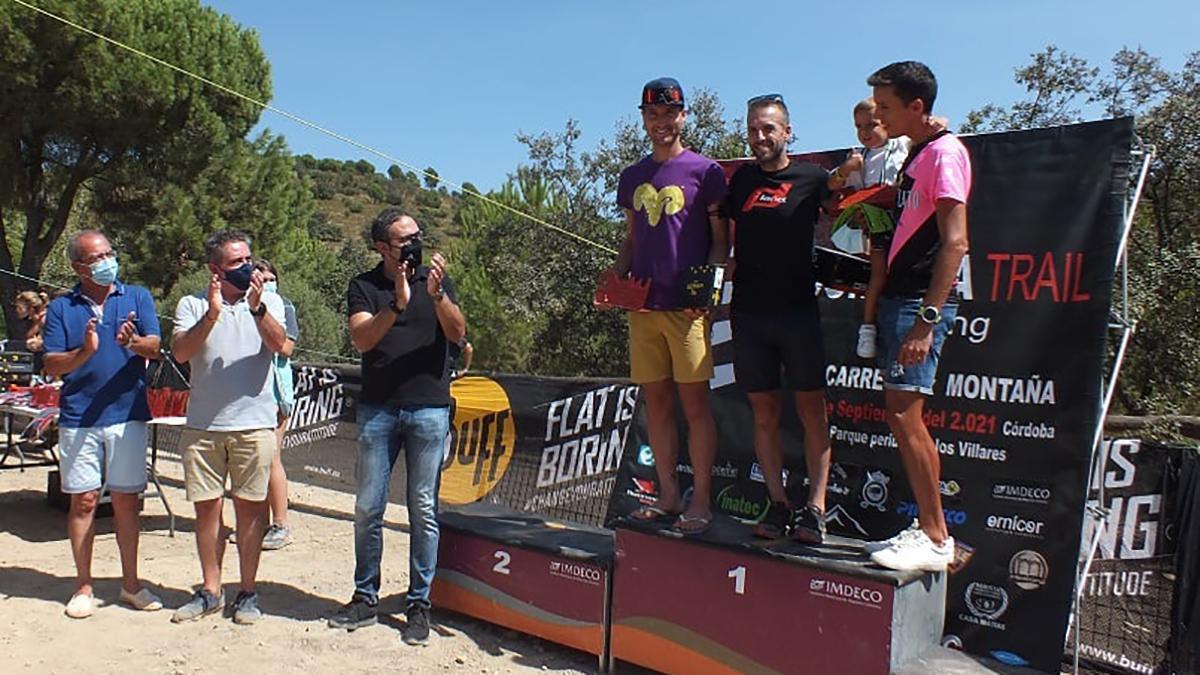 Ganadores masculinos de la Carrera x Montaña.