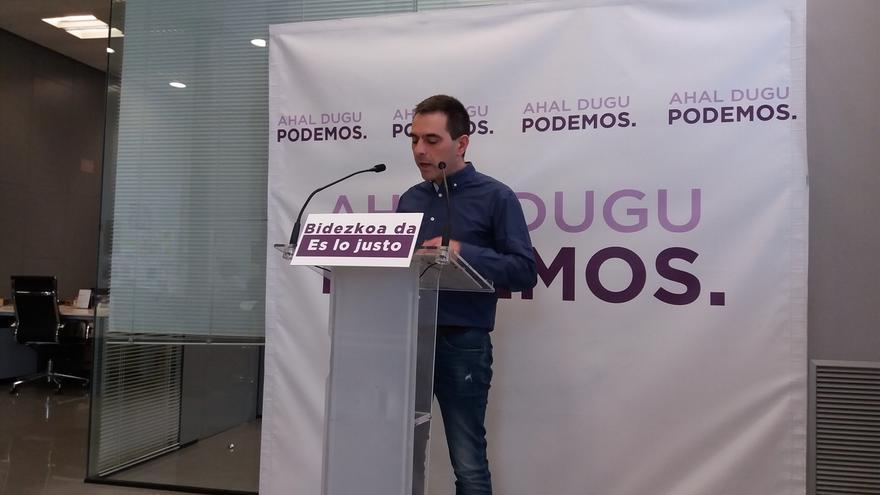 """Podemos advierte a PNV de que """"pactar con los de los sobres y maletines corruptos es pactar contra la soberanía vasca"""""""