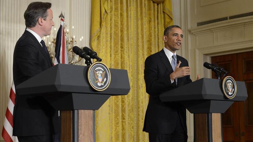 """Cameron y Obama prometen derrotar la """"ideología distorsionada"""" del terrorismo"""