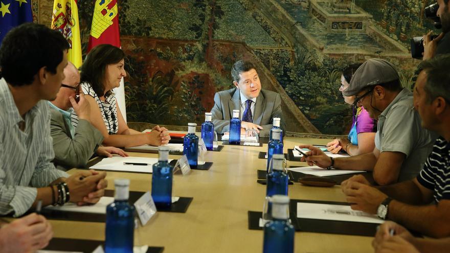 Reunión del Gobierno de Castilla-La Mancha con sindicatos./ FOTO: JCCM